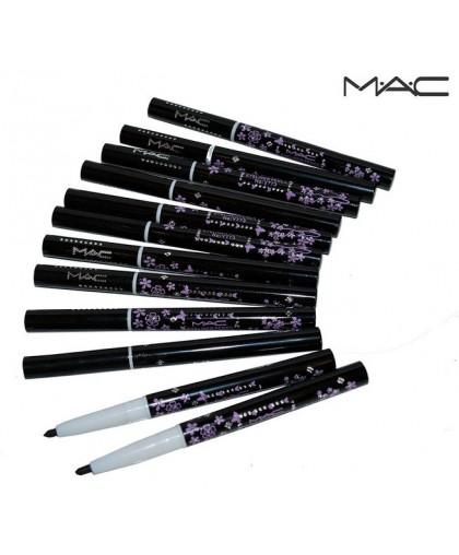 Карандаши для глаз черные механика MAC, упаковка 12шт